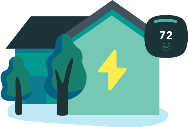 smart thermostat and community energy savings