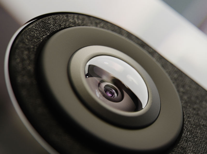 Close-up of ecobee SmartCamera lens.