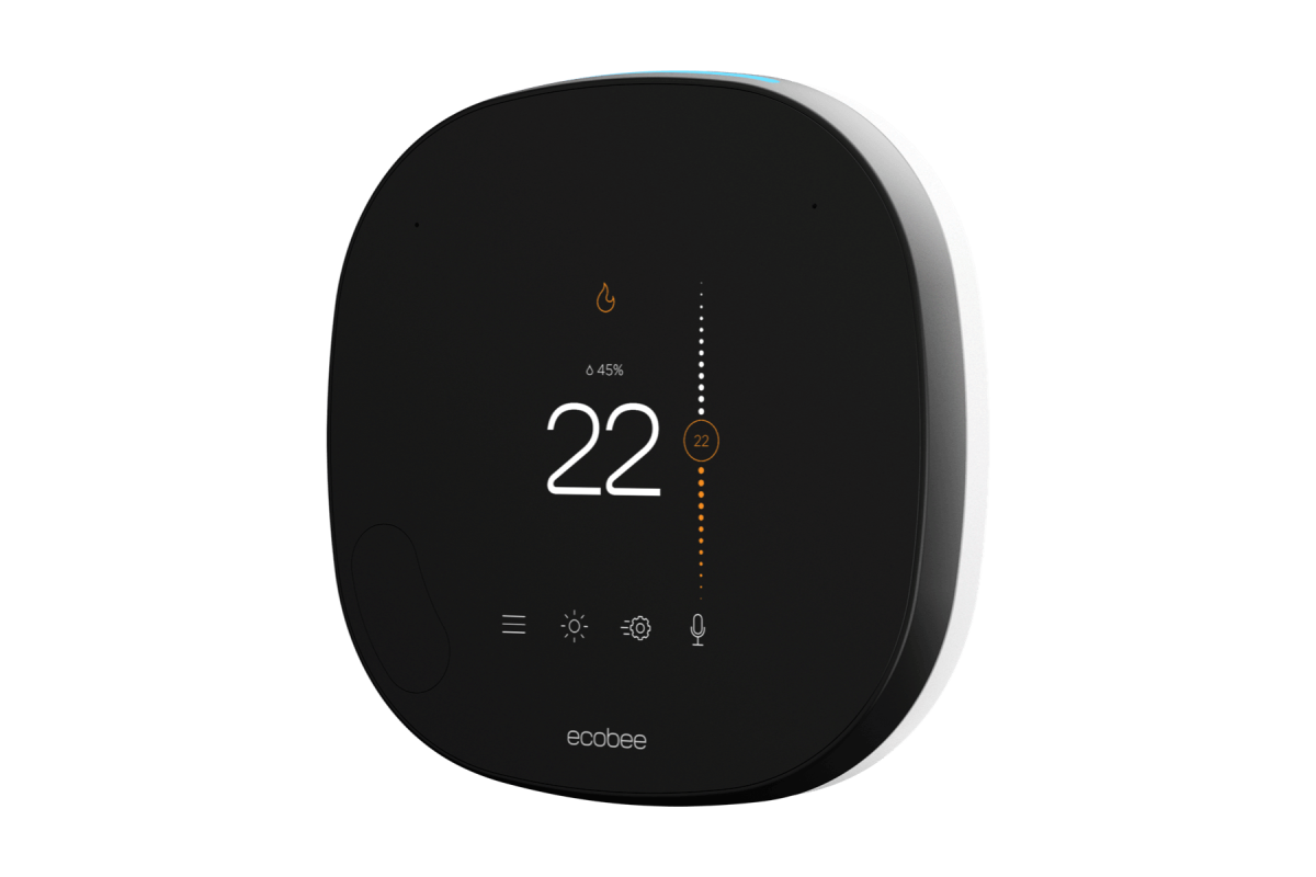 smart thermostat side view