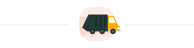 Illustration of a garbage truck