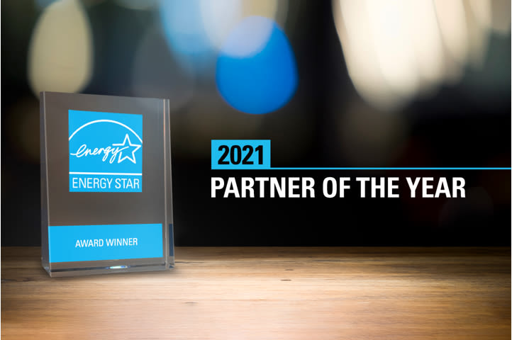 "A graphic with the Energy Star logo and ""2021 Partner of the Year"""