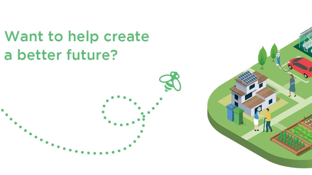 "Text that says, ""Want to help create a better future?"""