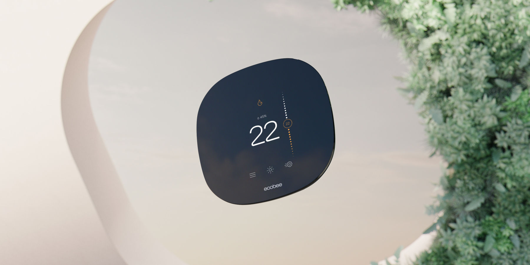 sleek ecobee smart thermostat