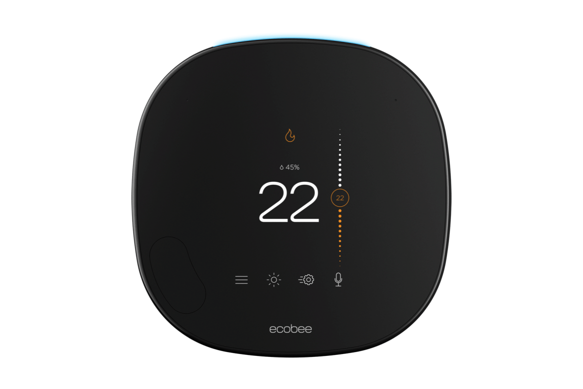 smart thermostat sleek front view
