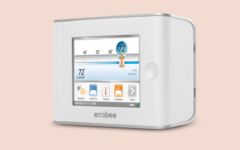 ecobee Smart, the world's first smart thermostat, launched in 2008.