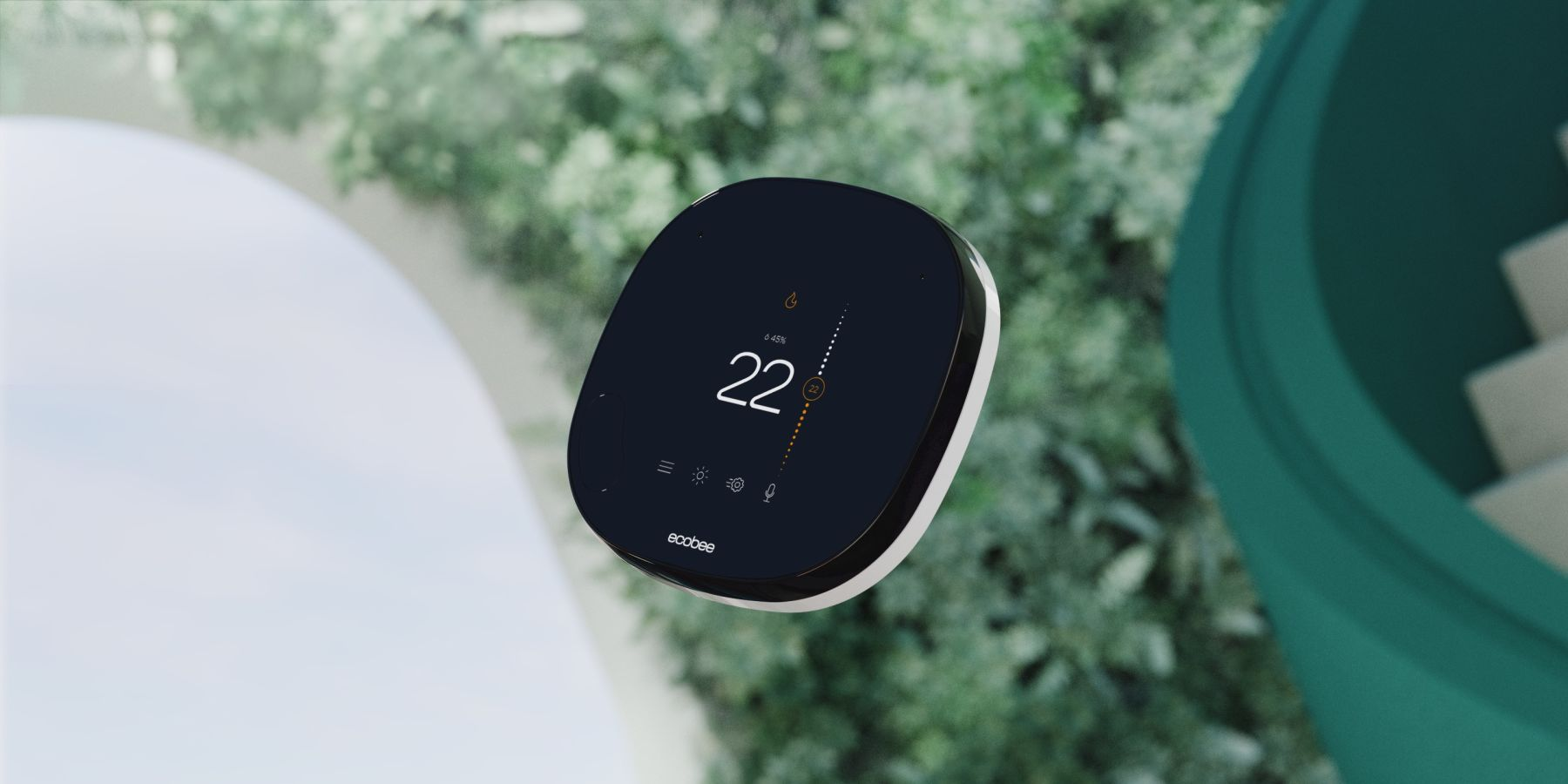 Smart thermostat background comfort
