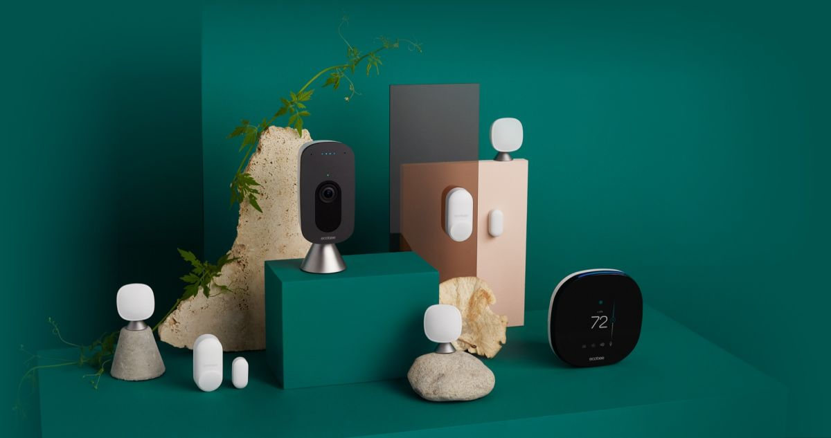 ecobee product suite on green background