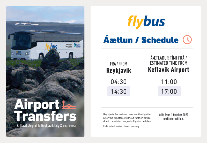 Flybus schedule october 2020