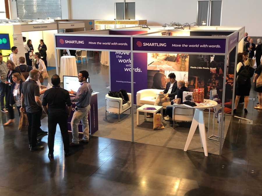 Smartling booth at Locworld 2019