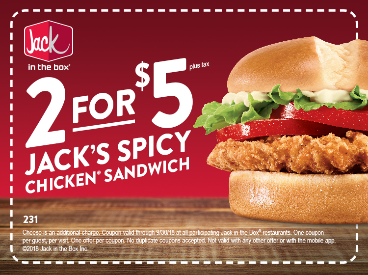 Jack in the box discount coupons