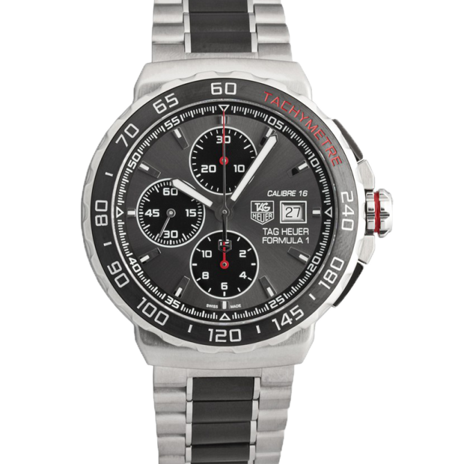 A watch with a dynamic Motorsport-look