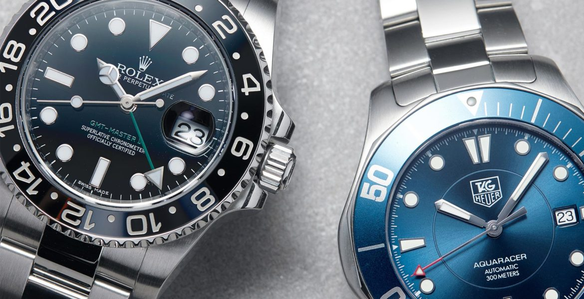 Details behind the Bezel of the GMT and Diver's Watch
