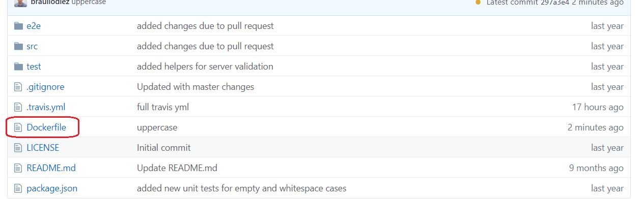 Dockerfile git root repo