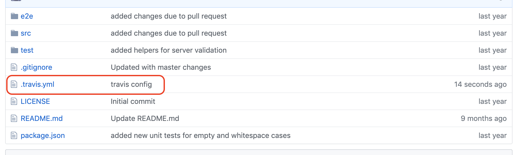 yml file root folder