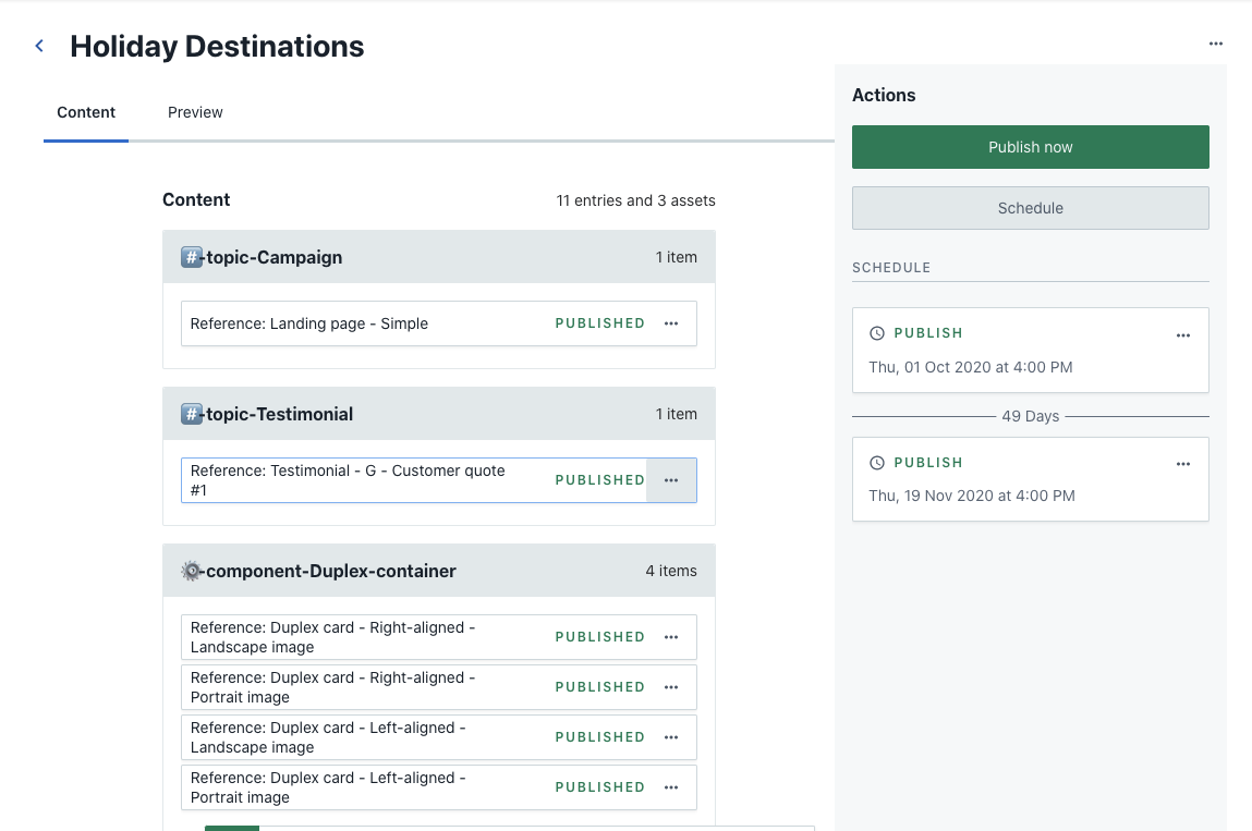 Planning App - Release detail view
