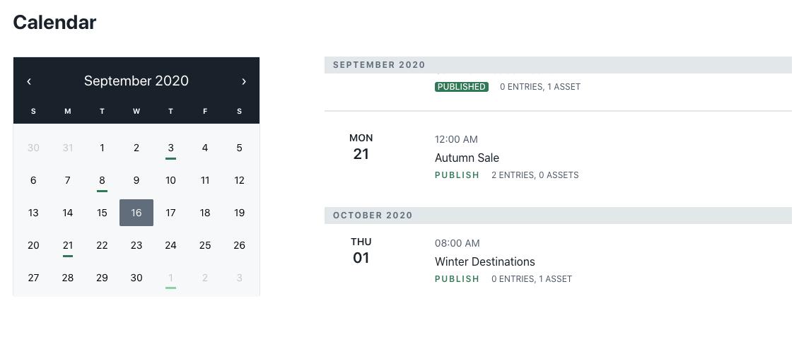 Planning App - Schedule view