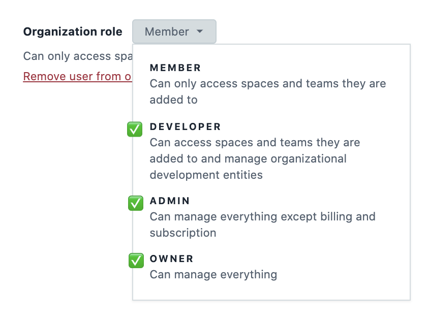 Apps Organizational Roles