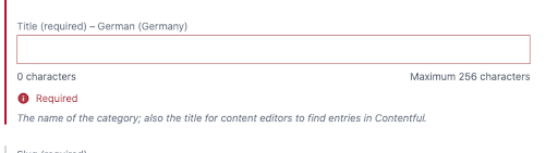Validations: Invalid short text field