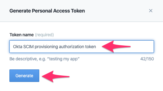 Generate access token form