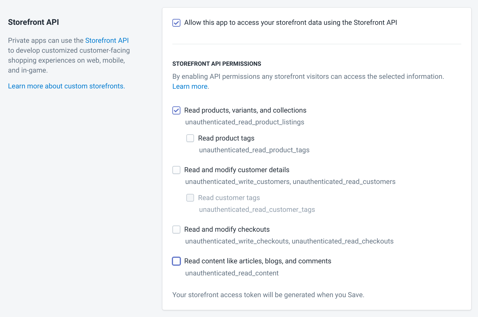 Apps Shopify Permissions