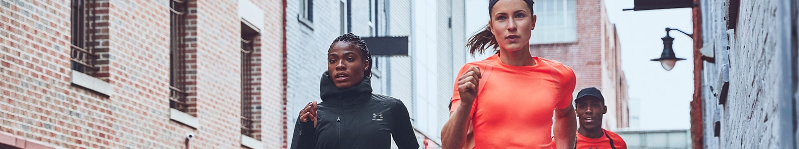 Under Armour's banner