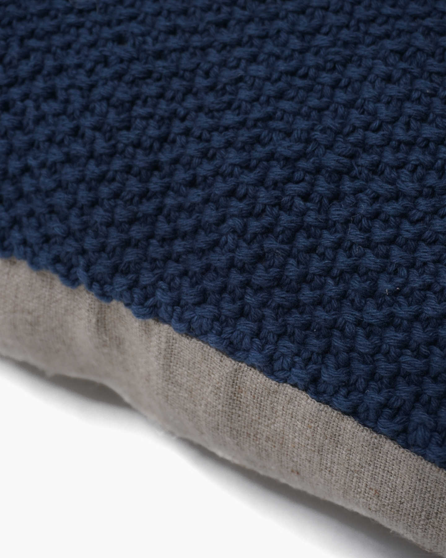 Textured Cotton Pillow Cover - Indigo - 1