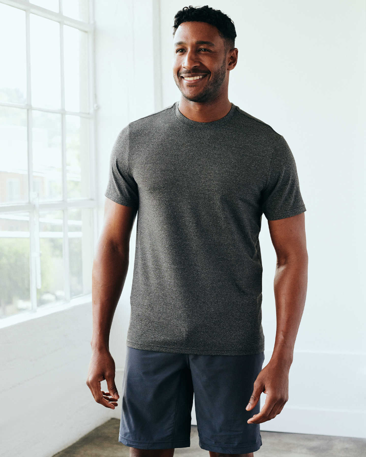 Flowknit Ultra-Soft Performance Tee - Charcoal