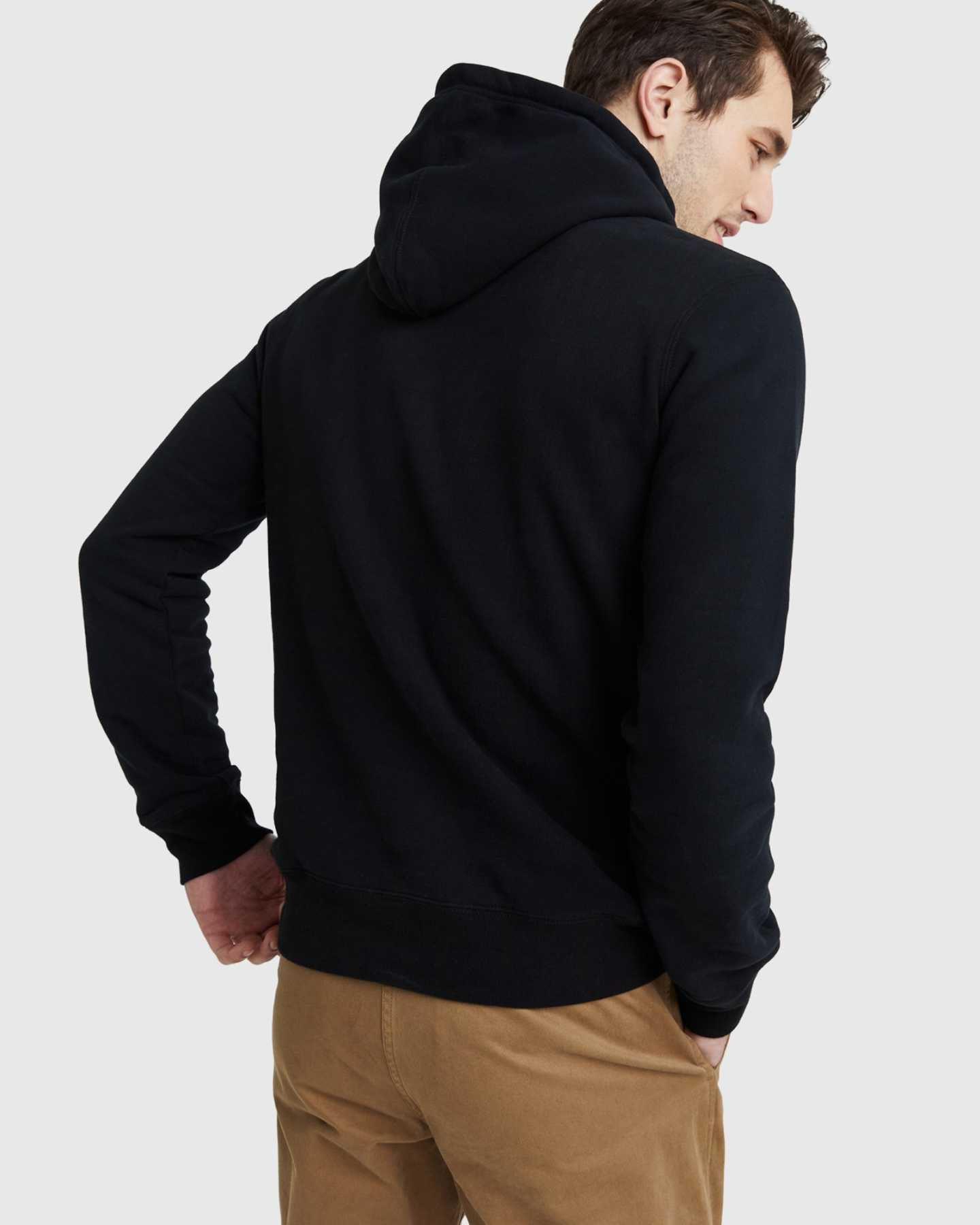 Heavyweight Organic Fleece Hoodie - Black - 9