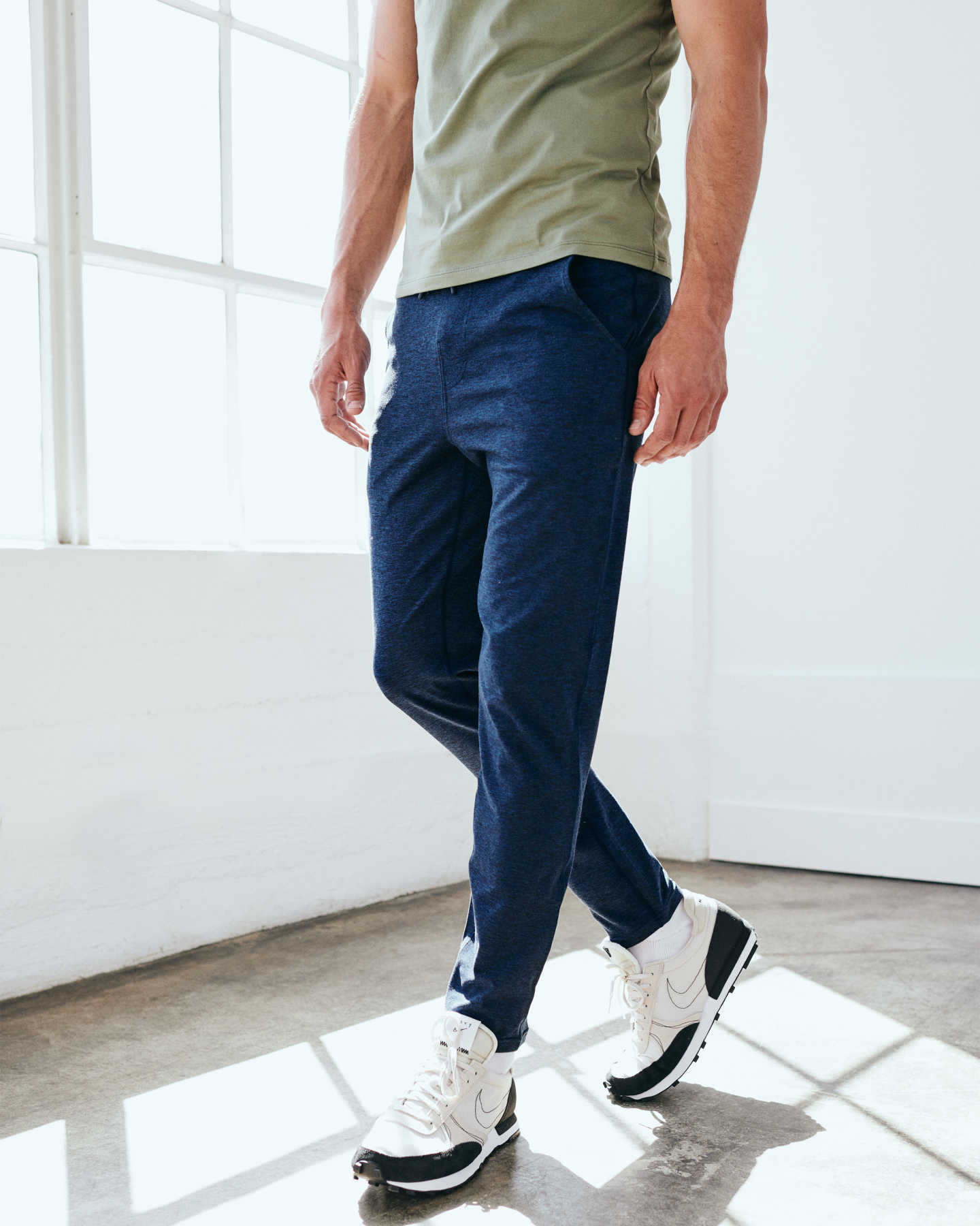Flowknit Ultra-soft Performance Pant - Heather Navy