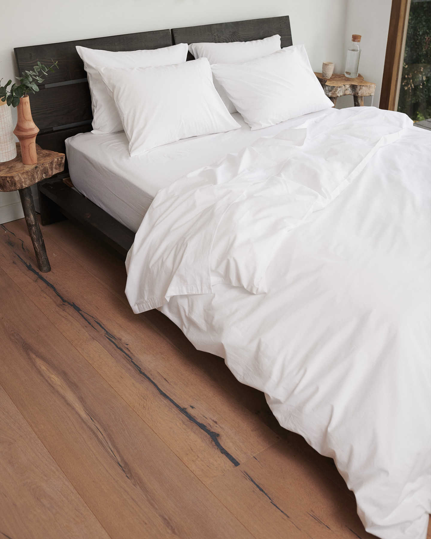 Organic Percale Luxe Duvet Cover - White - 1