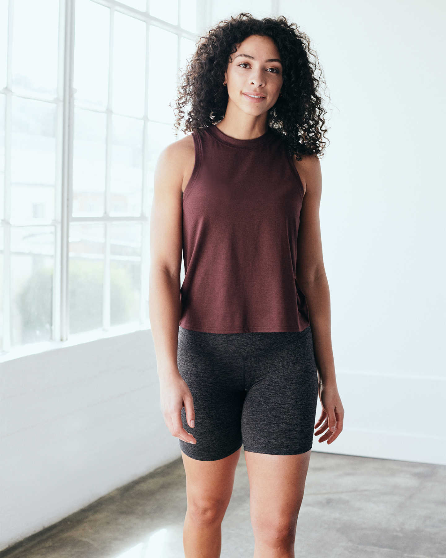 Flowknit Ultra-Soft Performance Tank - Burgundy - 12