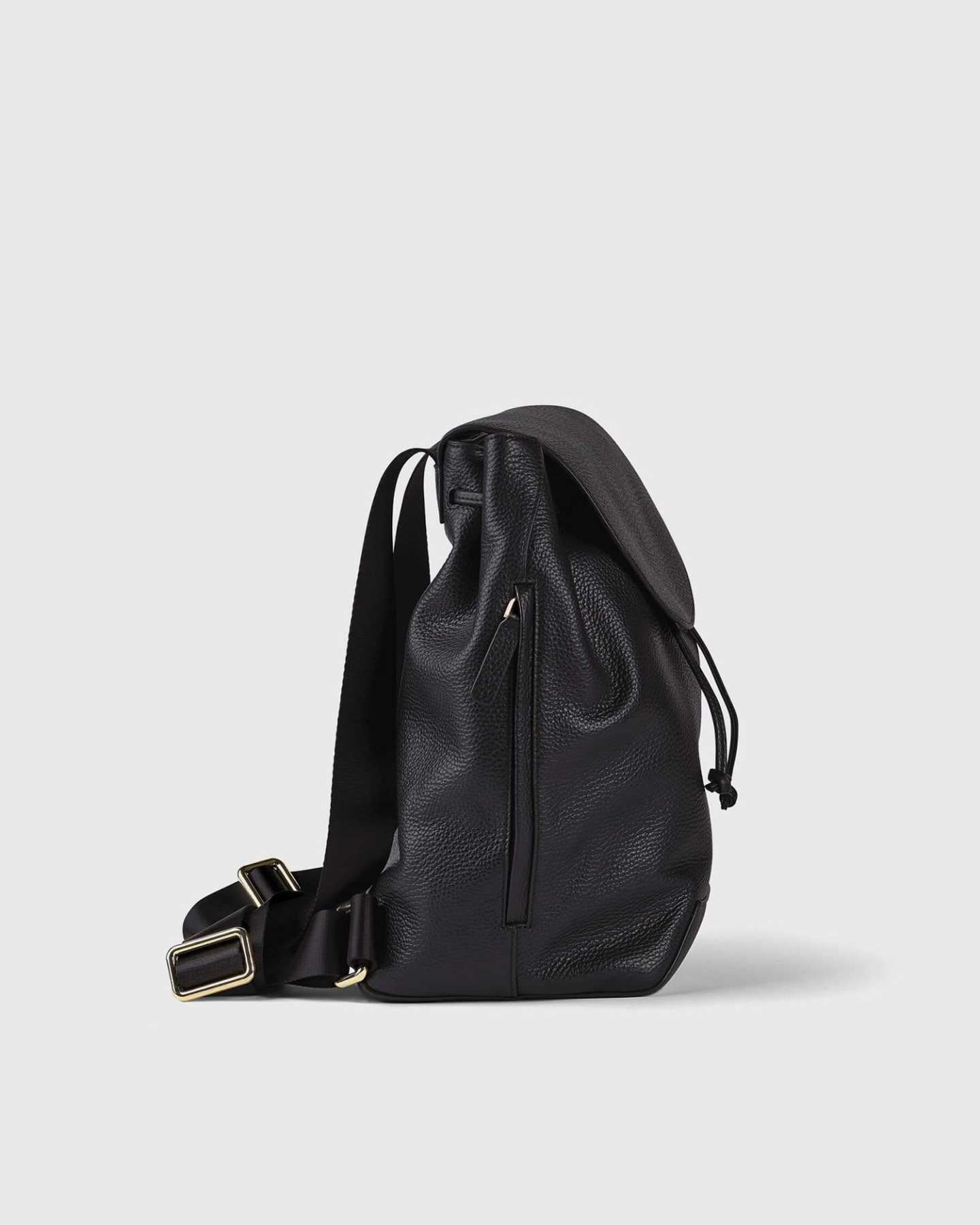 Italian Pebbled Leather Backpack - 13790590042223