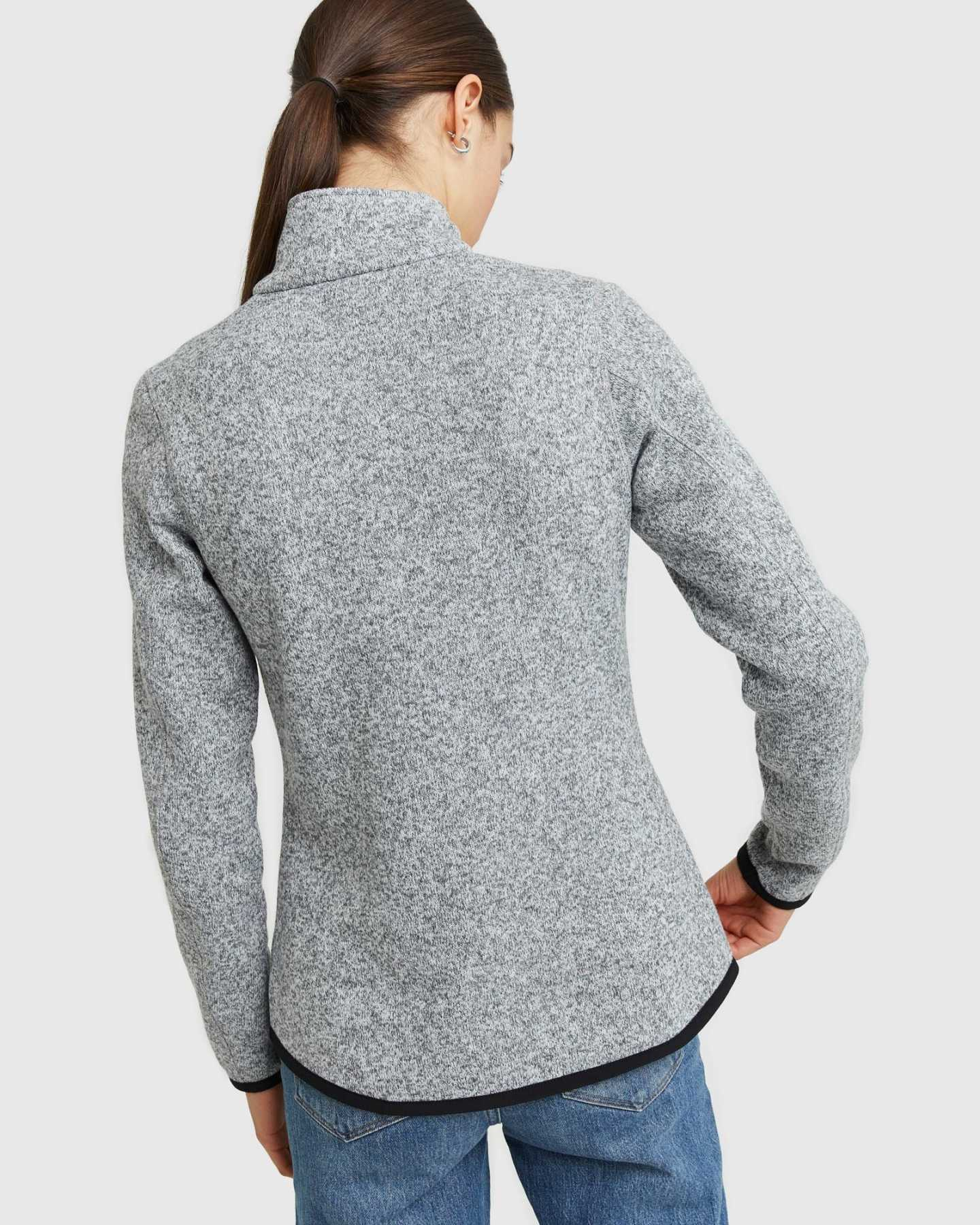 Full Zip Sweater Fleece Jacket - 13649938350191