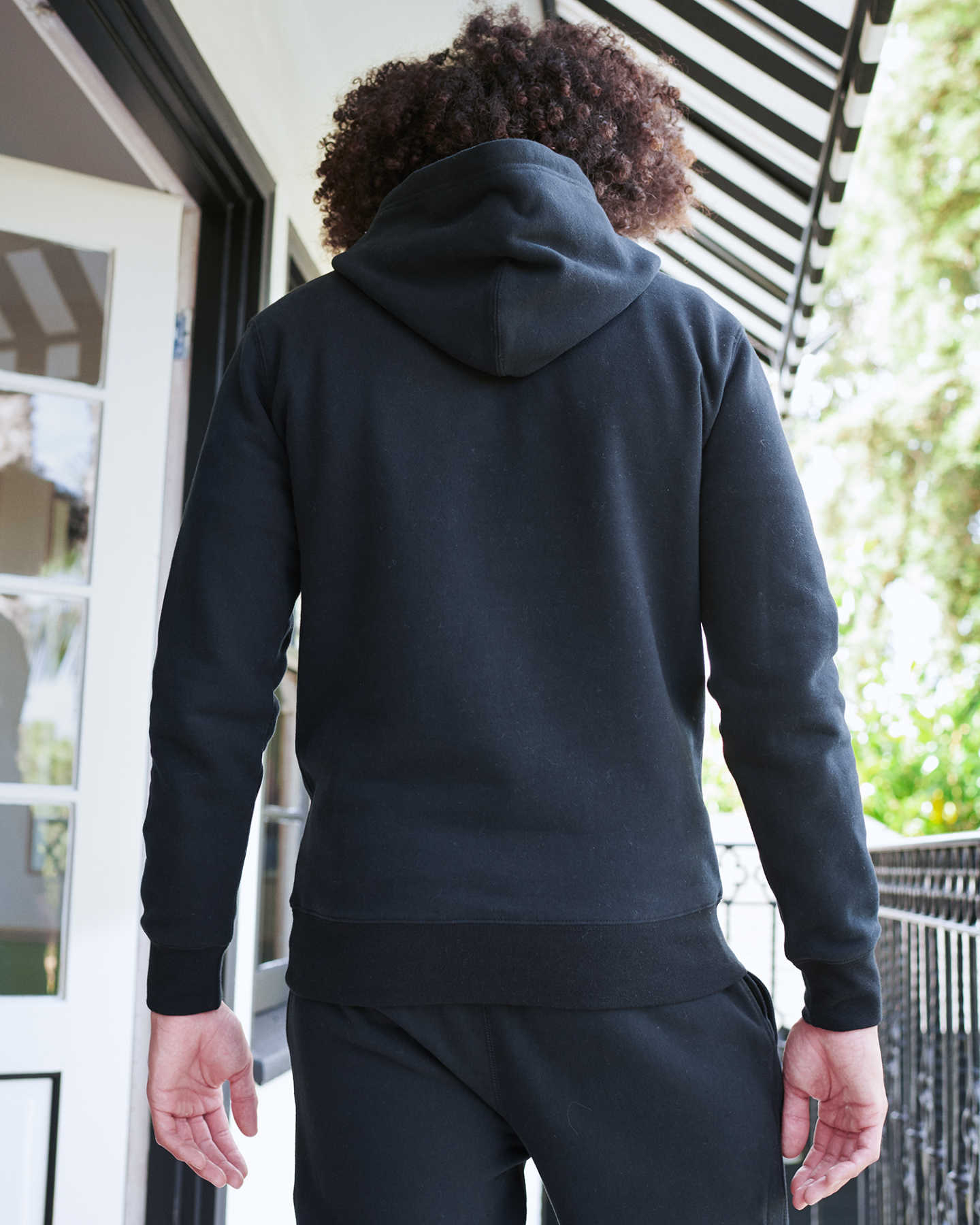 Heavyweight Organic Fleece Hoodie - Black - 4