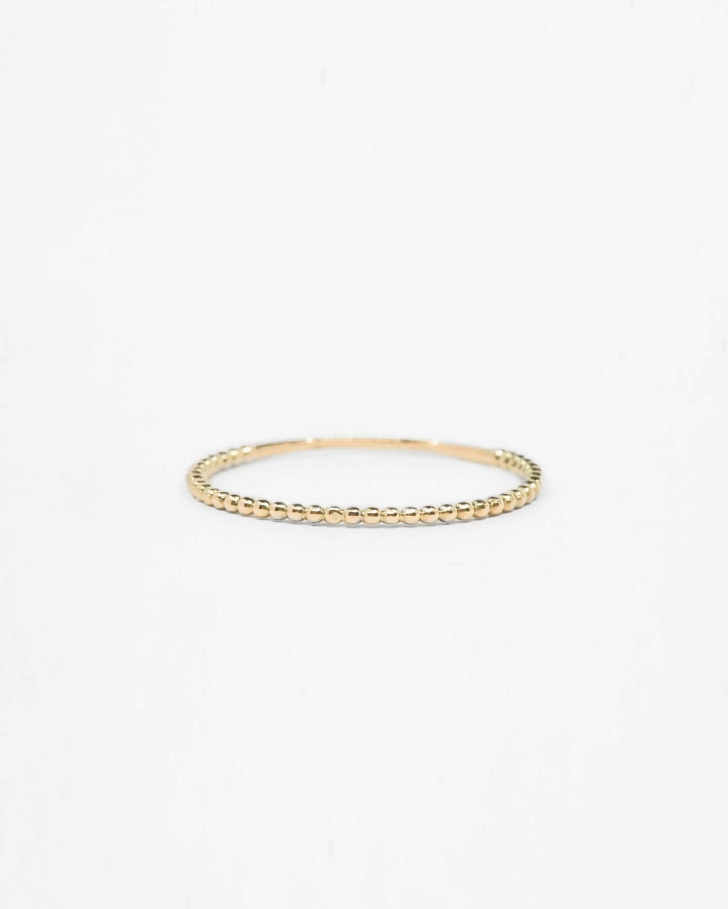 14k Gold Beaded Ring - Yellow Gold