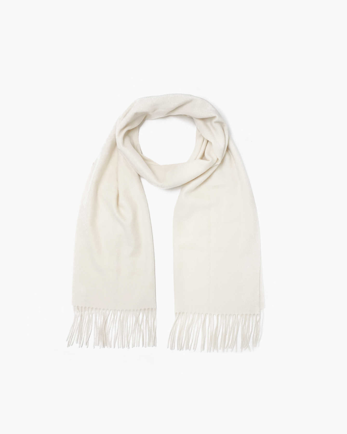 You May Also Like - Mongolian Cashmere Woven Scarf - Ivory