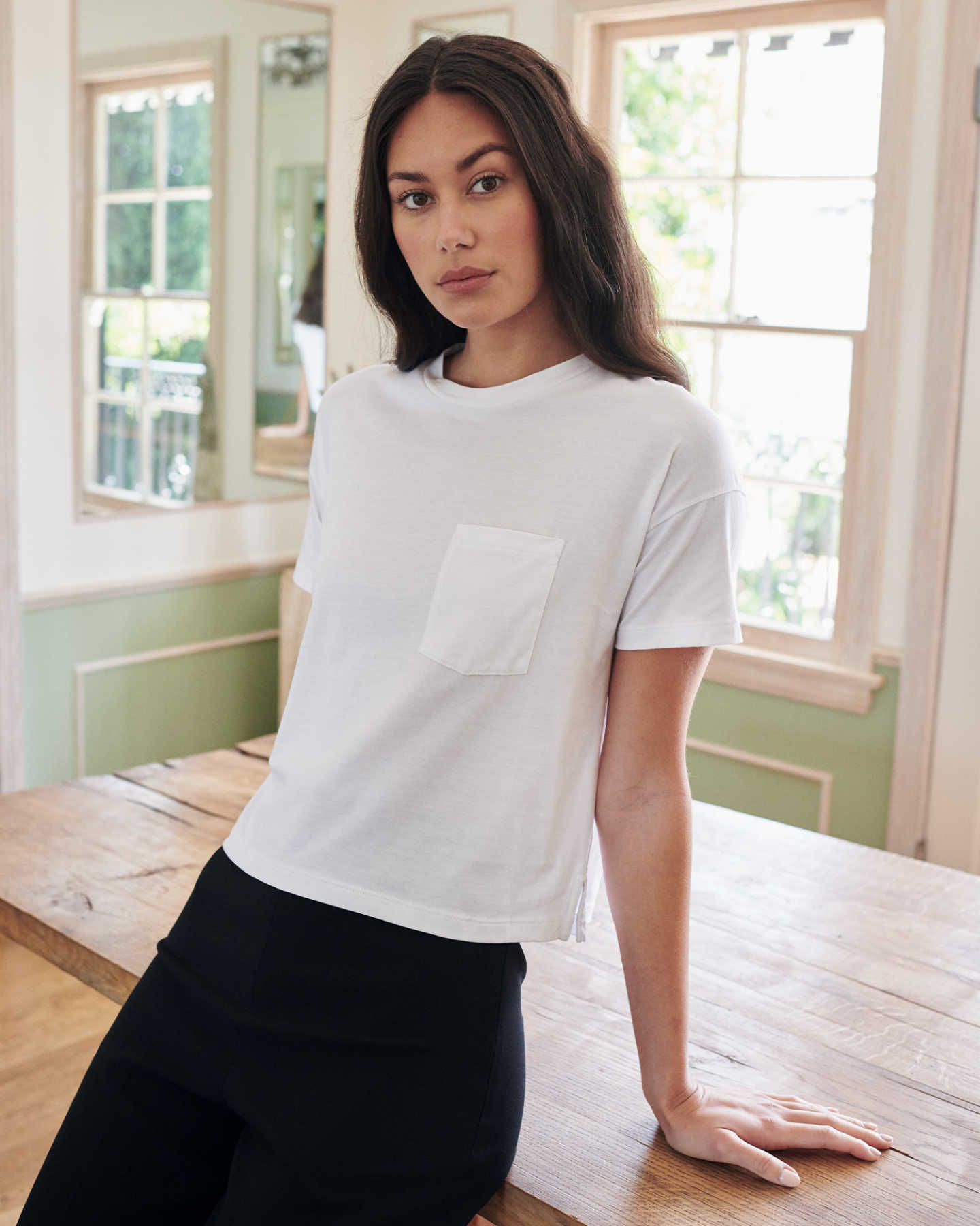 Pair With - 100% Organic Pima Boxy Pocket Tee - Black