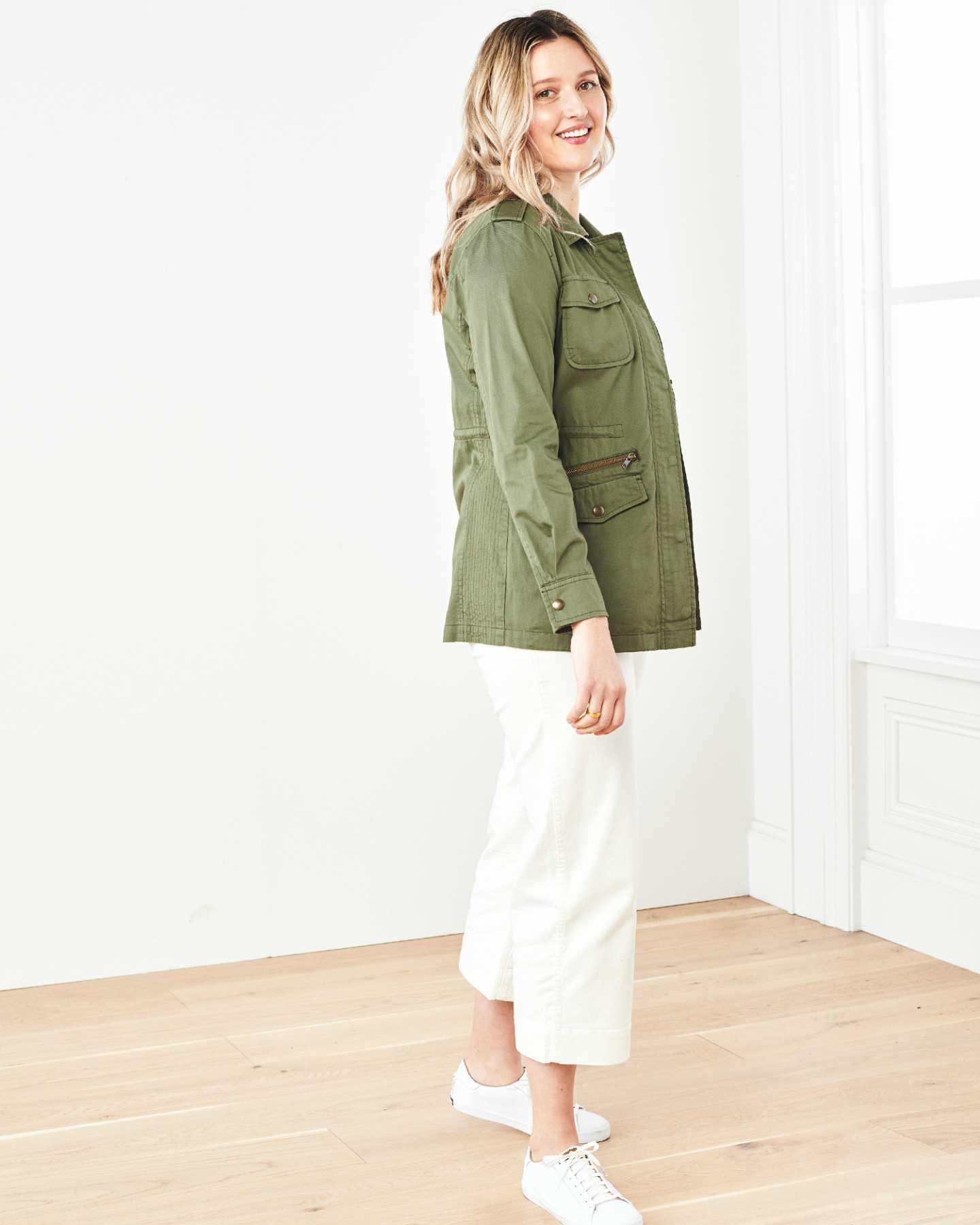 Cotton Twill Utility Jacket - Olive - 4