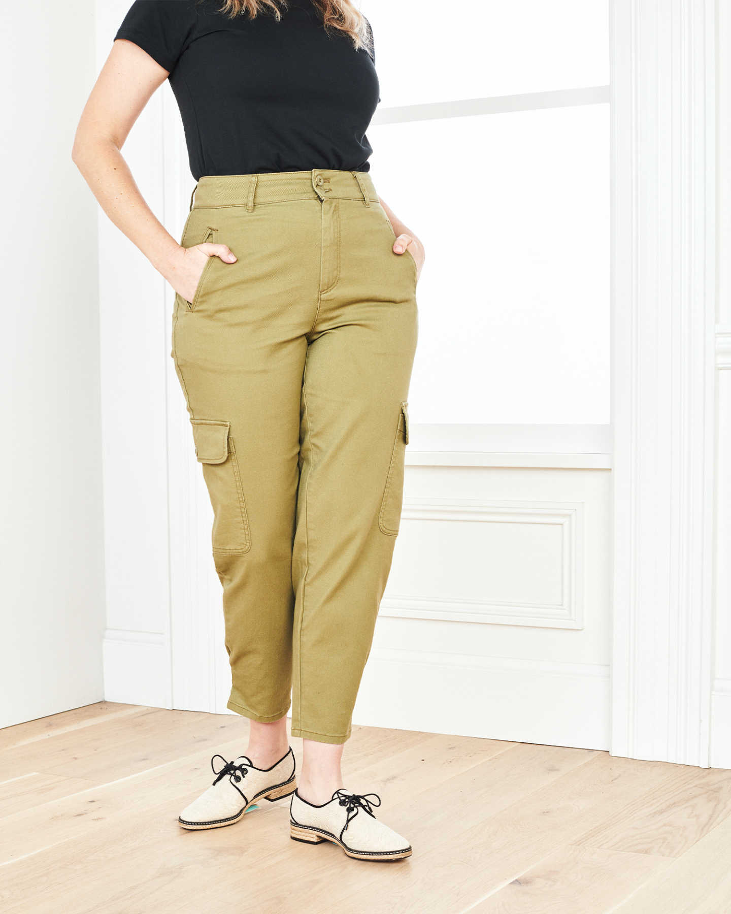 Stretch Cotton Twill Cargo Pant - Olive - 0