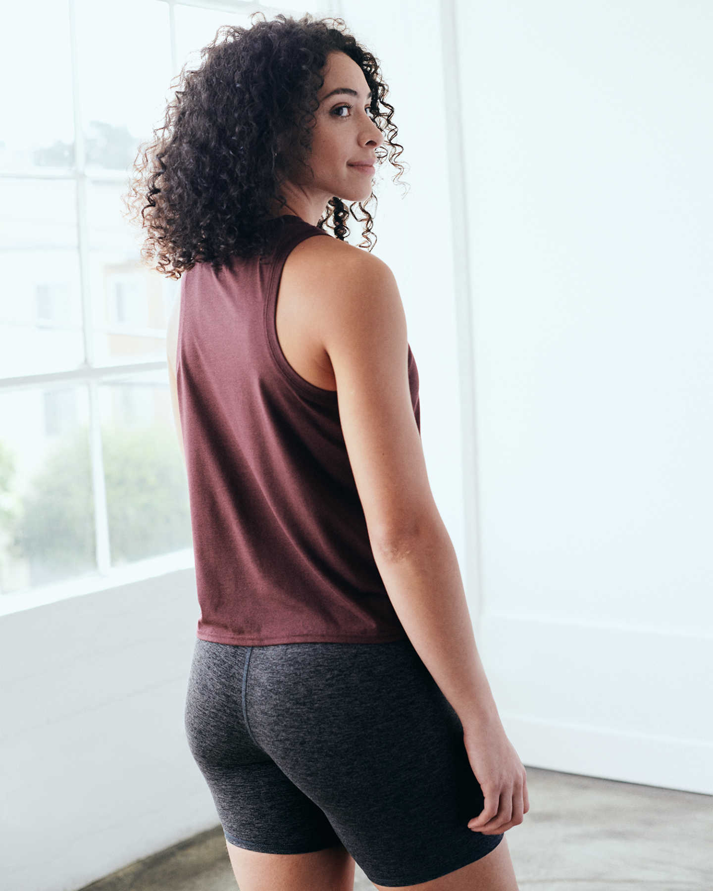 Flowknit Ultra-Soft Performance Tank - Burgundy - 8 - Thumbnail