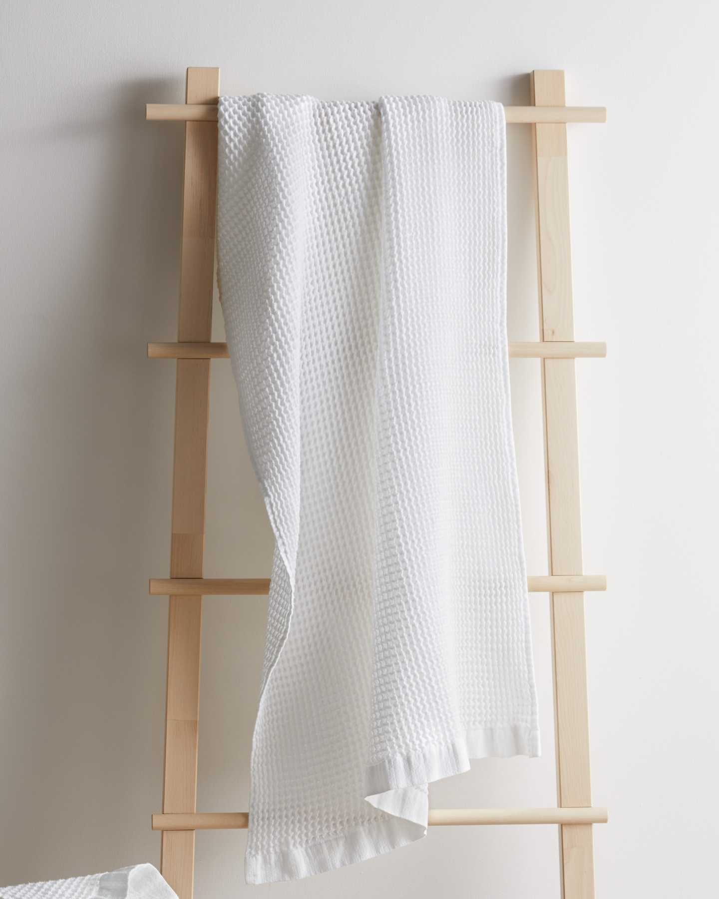 Organic Turkish Waffle Towel Bundle - White - 2