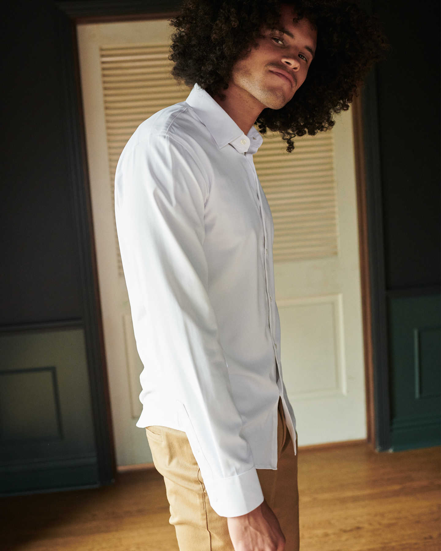 Recycled Performance Dress Shirt - White - 3