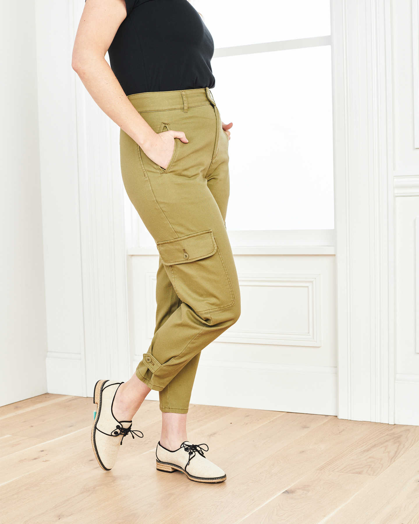 Stretch Cotton Twill Cargo Pant - Olive - 7