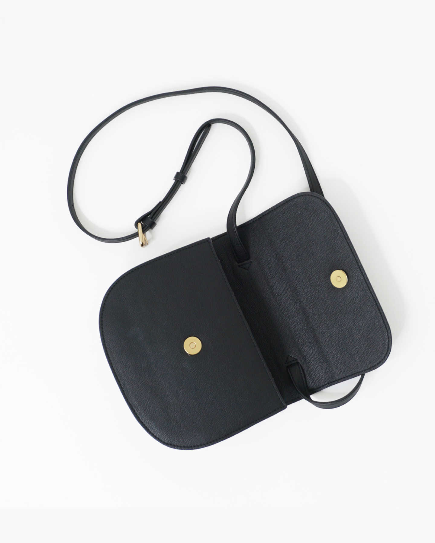 Vegan Saddle Bag - Black - 5