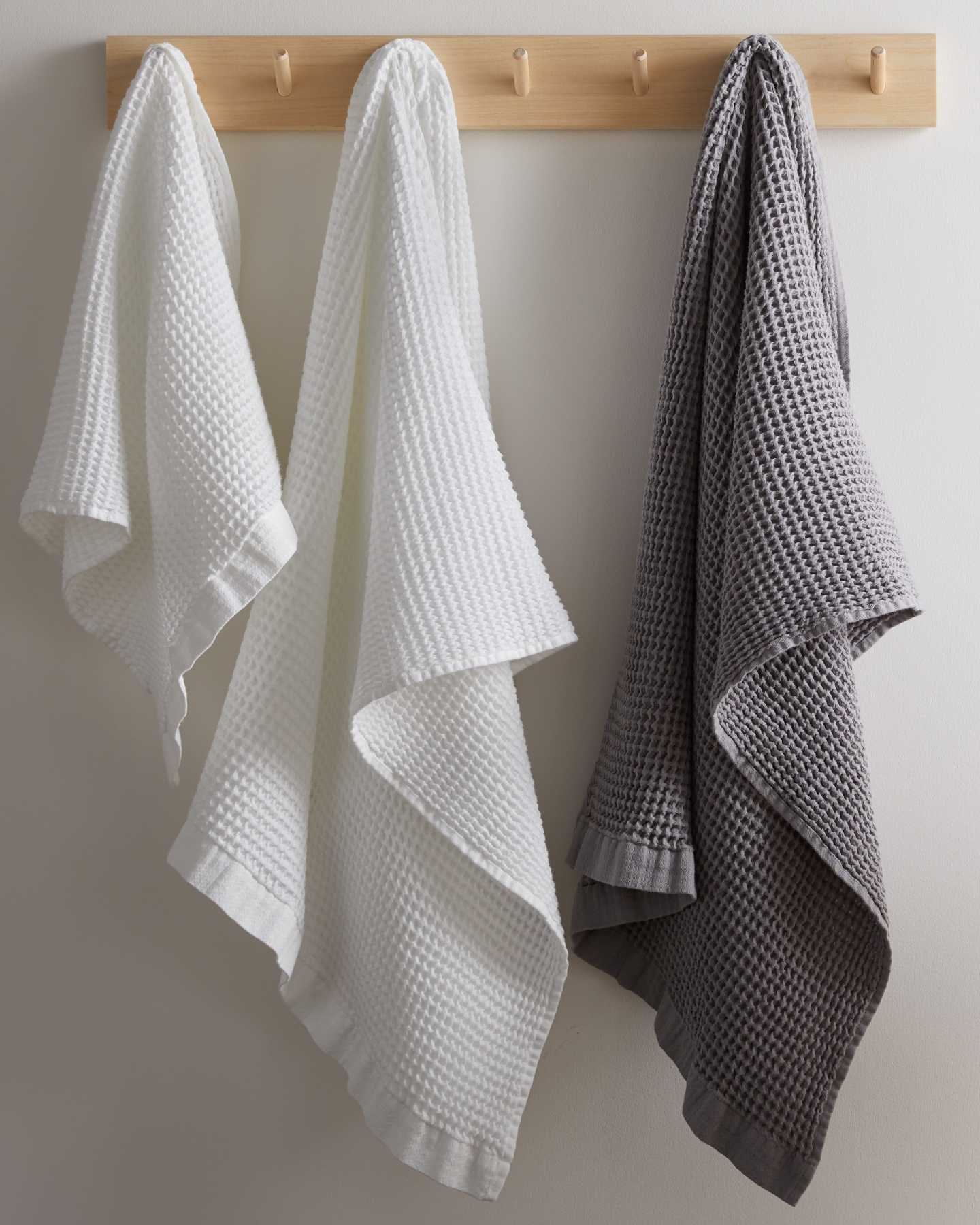 Organic Turkish Waffle Towel Bundle - Grey - 4