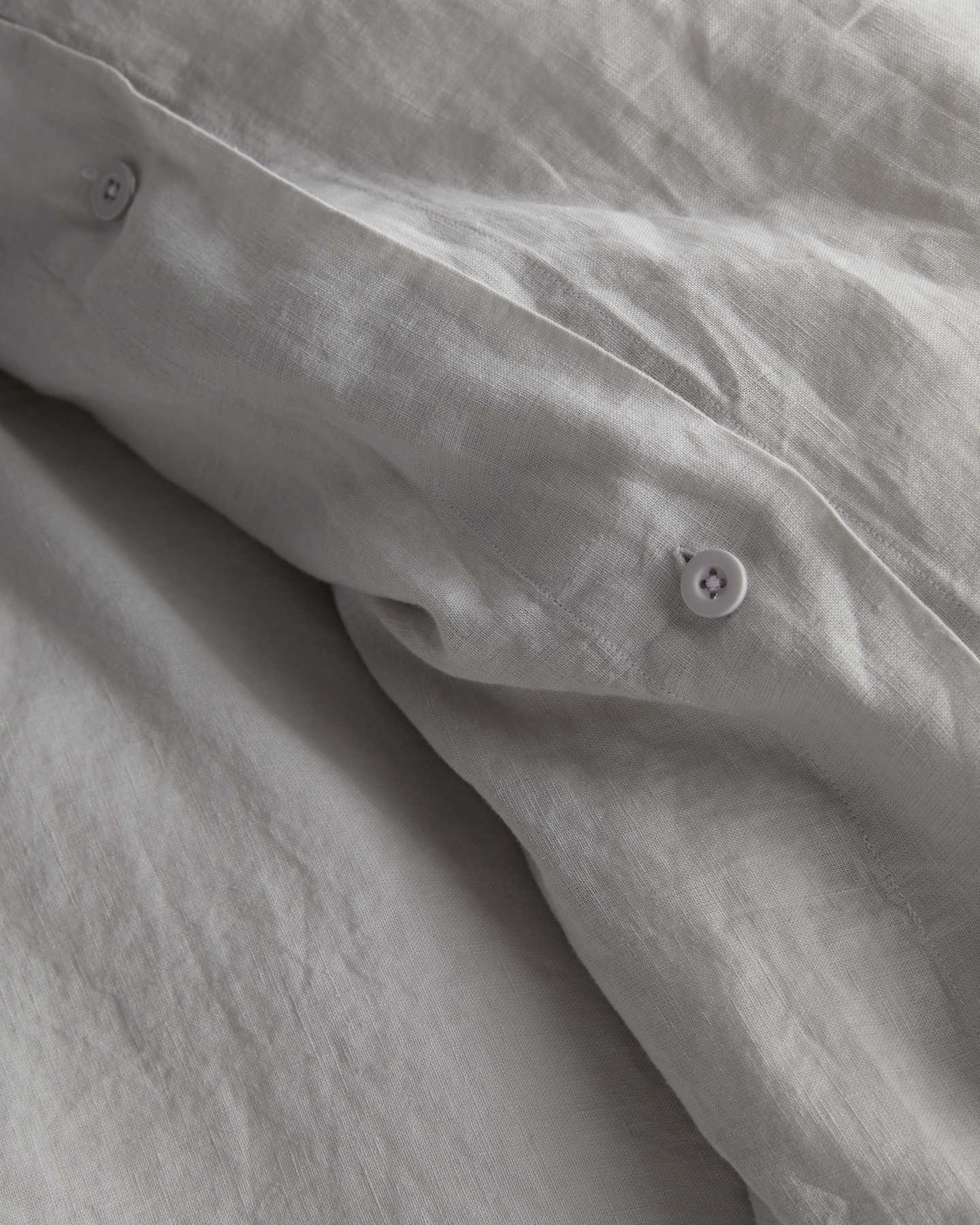 Belgian Linen Duvet Cover Set - Light Grey - 3