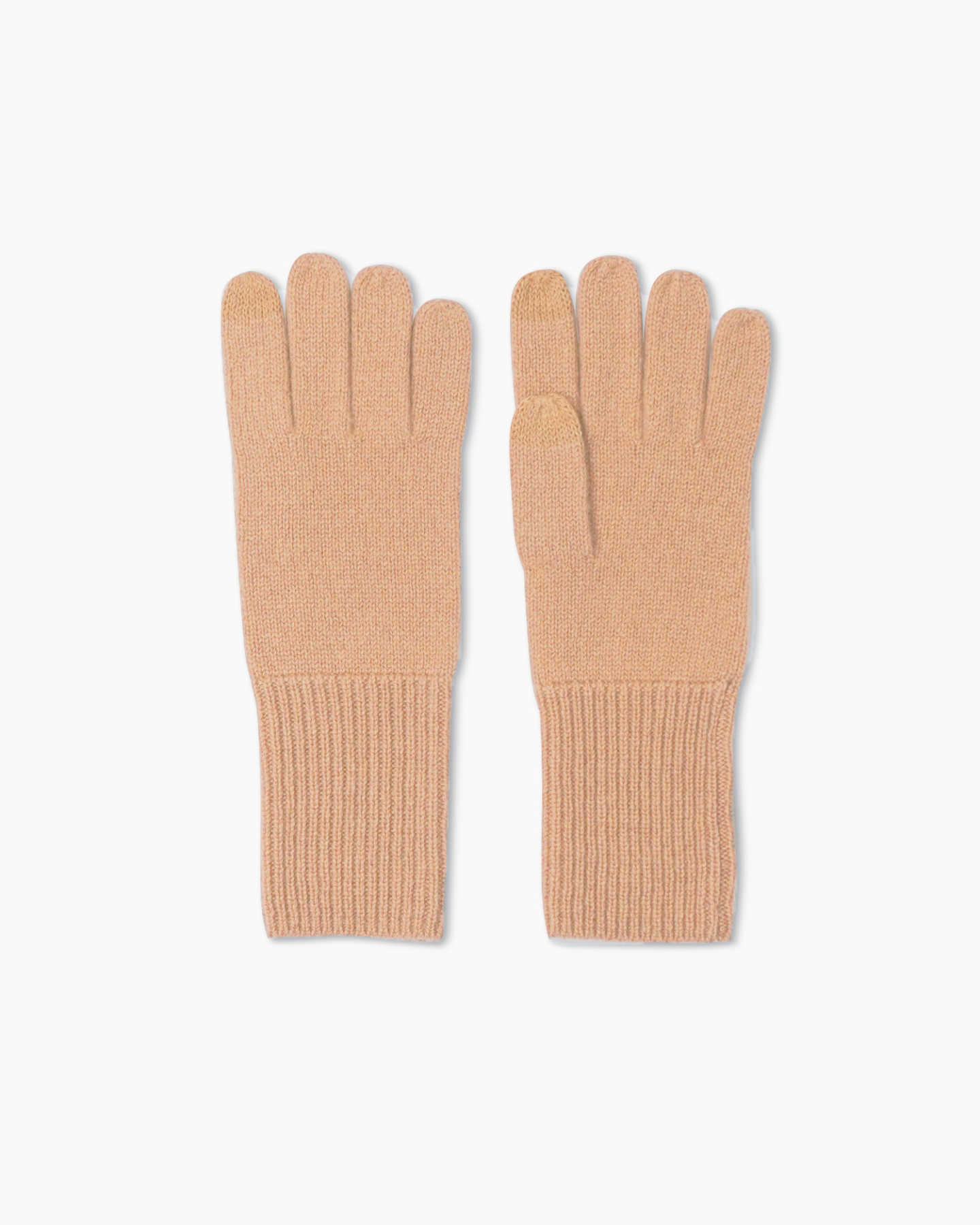 Mongolian Cashmere Gloves - Camel - 0