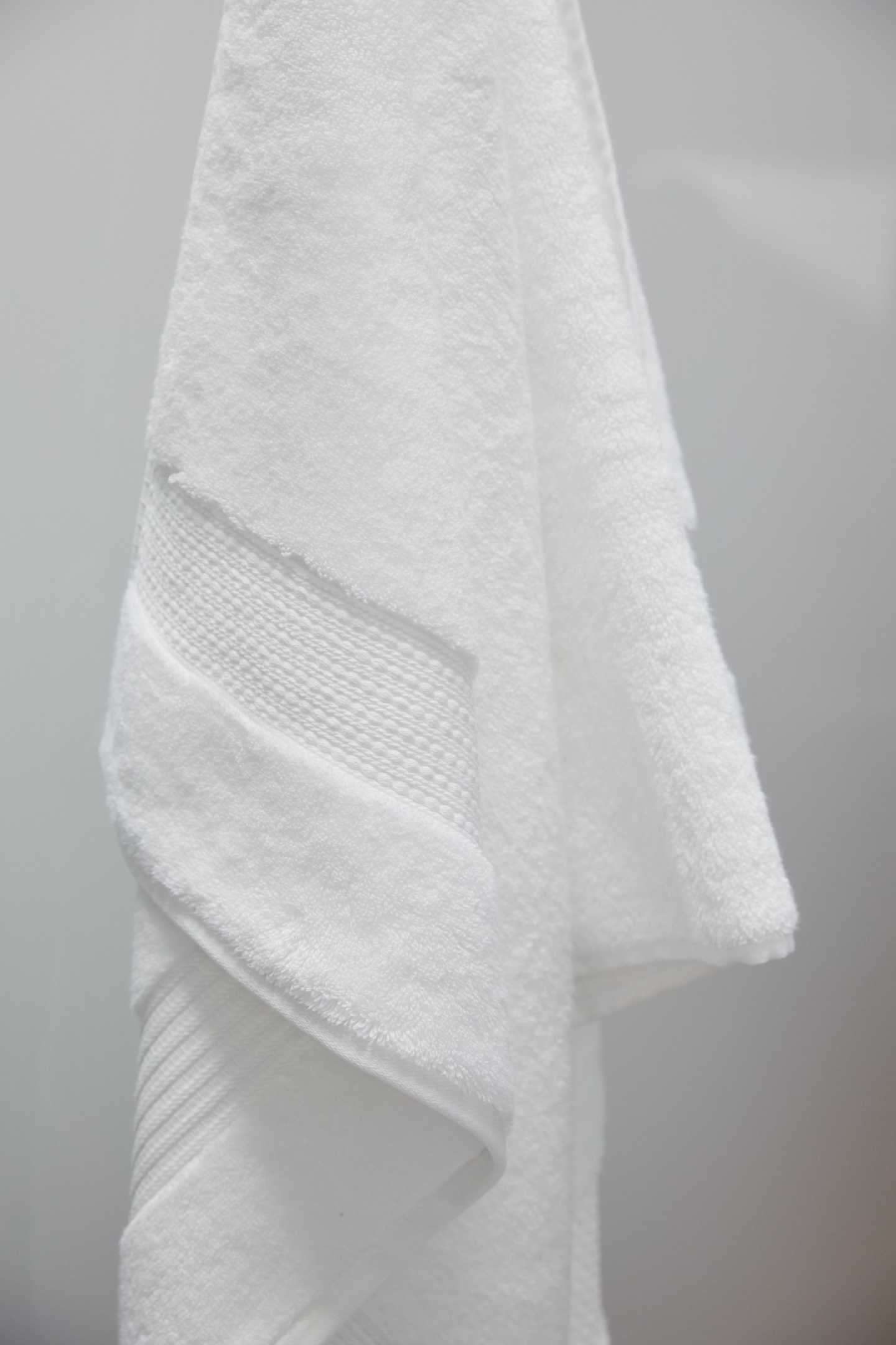 Turkish Quick-Dry Bath Towels (Set of 2) - White - 3 - Thumbnail