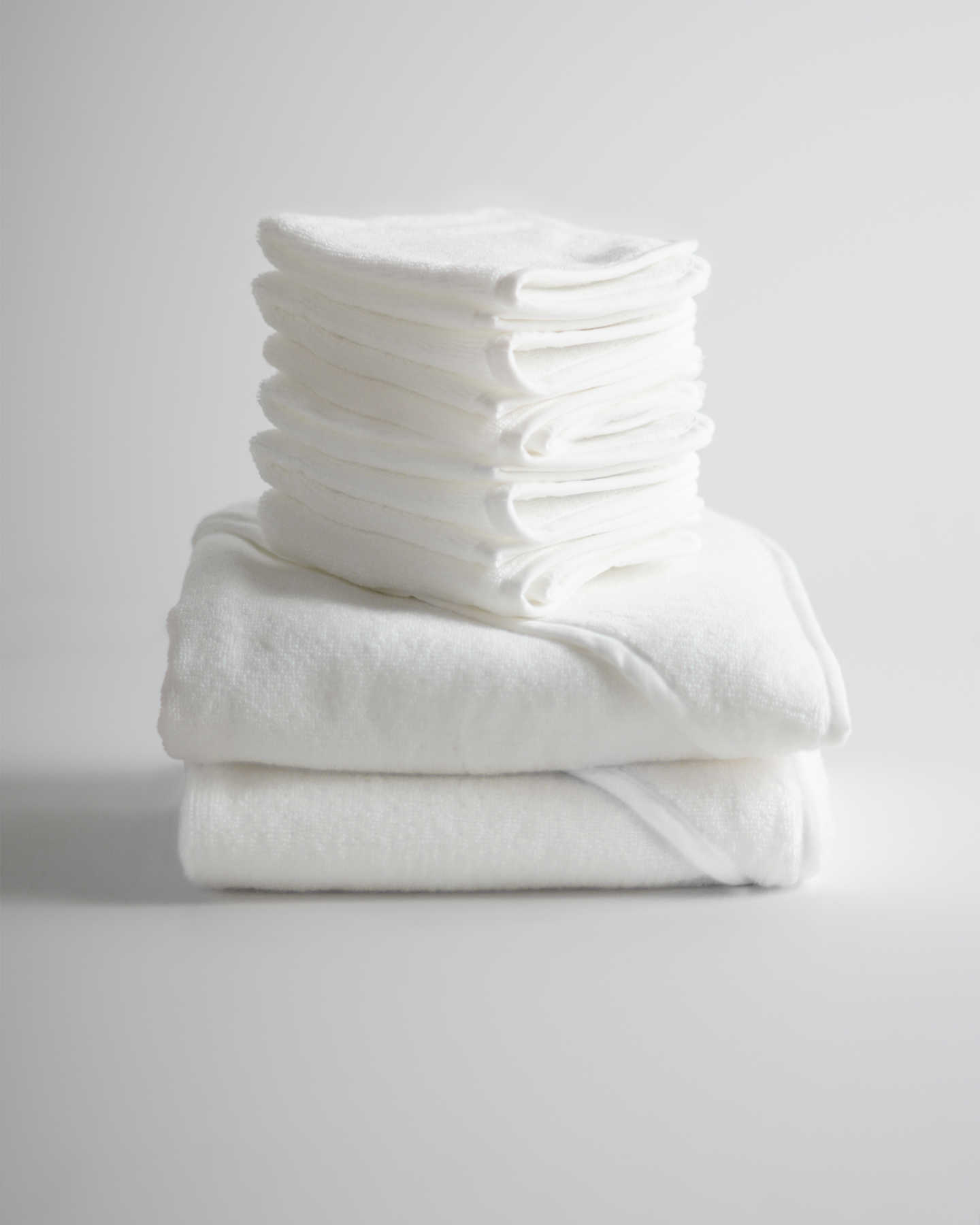Organic Turkish Cotton Baby Bath Bundle - White