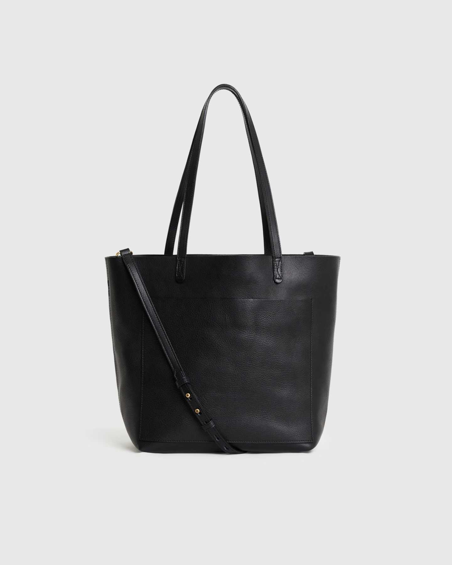 Pair With - Italian Veg Tanned Porter Tote - Black